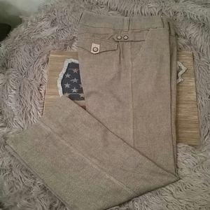 Lux sharp brown tweed pants, 3